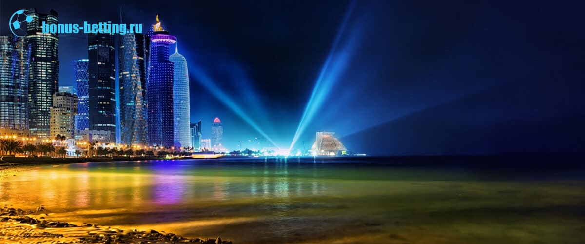 Катар ночью