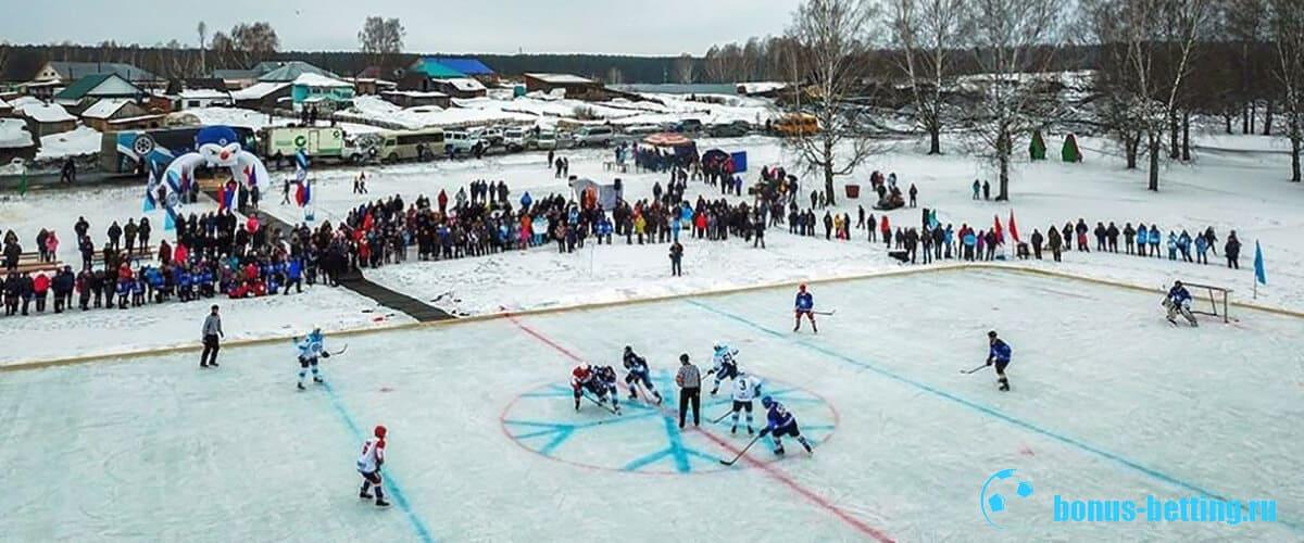 Сибирь-Рысь на льду озера