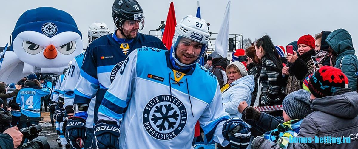 Выход игроков на лед
