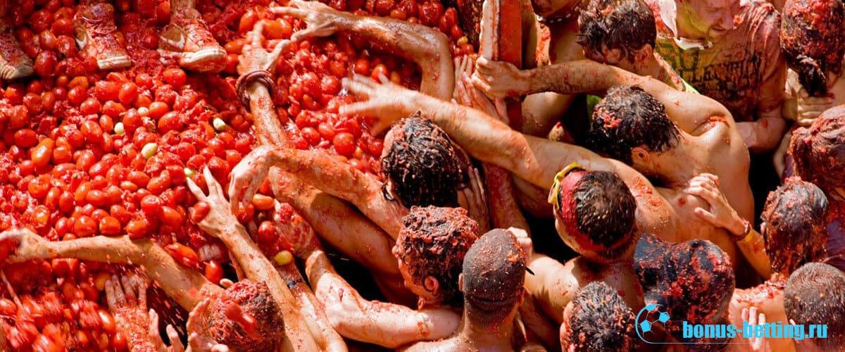 фестиваль помидоров в испании
