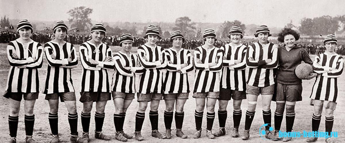 история женского футбола