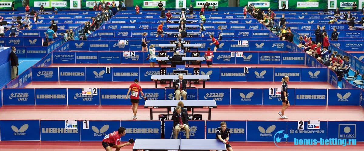 Столы на чемпионате