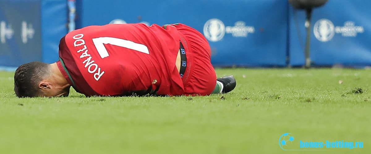 Травма Роналду в Евро-2020