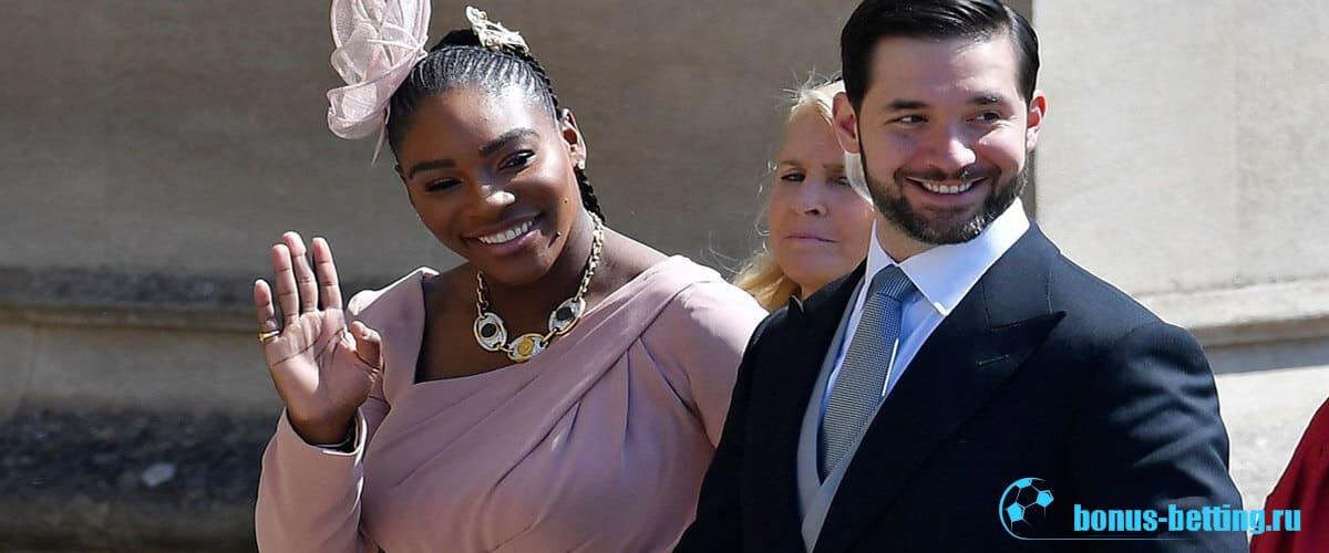 серена уильямс на свадьбе принца гарри и меган маркл