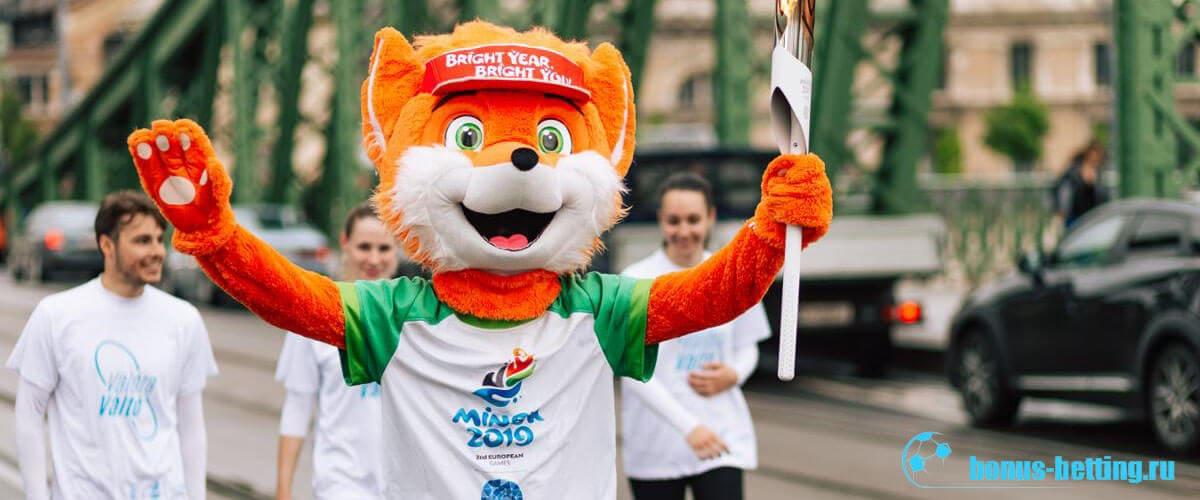 талисман европейских игр 2019
