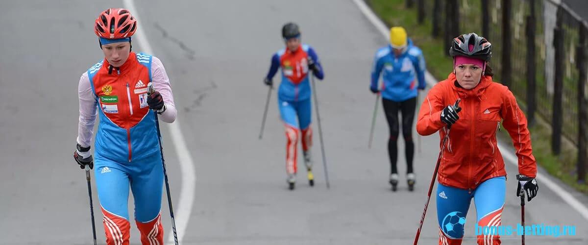 Зимние спортсмены летом тренируются