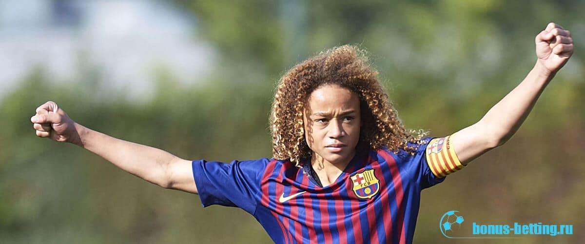 16 летний футболист в барселоне