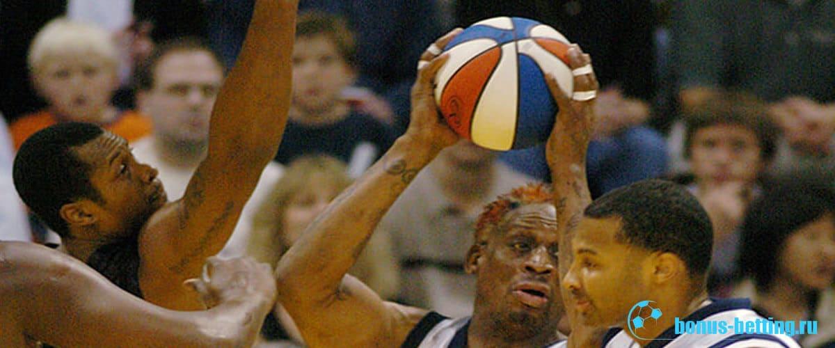 баскетбольный мяч цвета флага сша