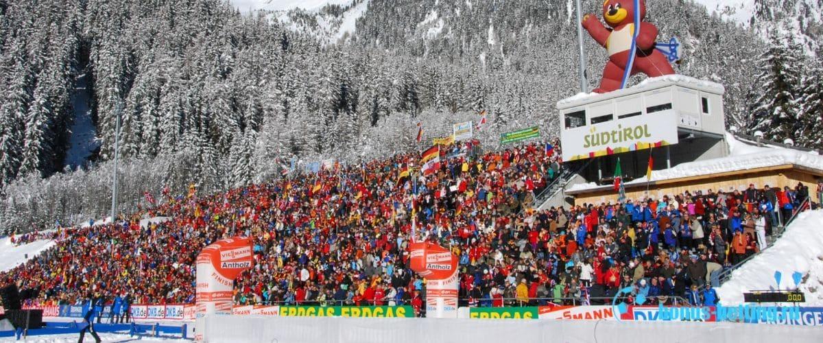 Стадион Sudtirol Arena - место проведения ЧМ 2020 по биатлону