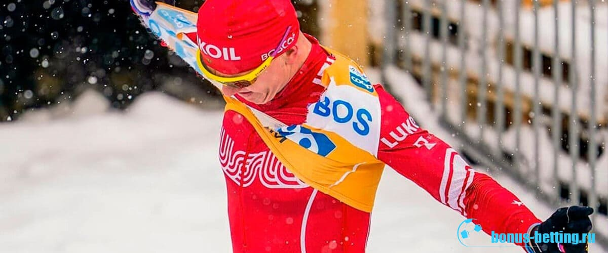 большунов на финише ски тур 2020