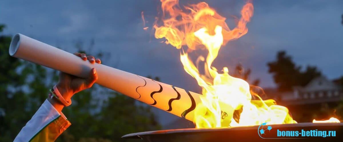 Олимпийский факел греция