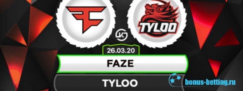 FaZe Clan – TyLoo: прогноз на игру 26 марта, CS: GO