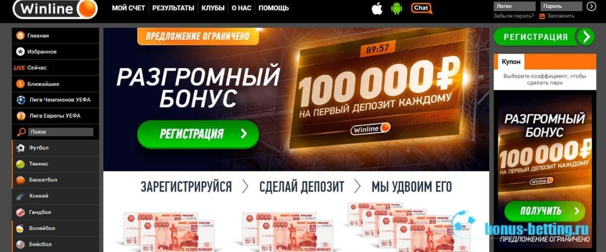 Бонусы и акции от Винлайн спорт