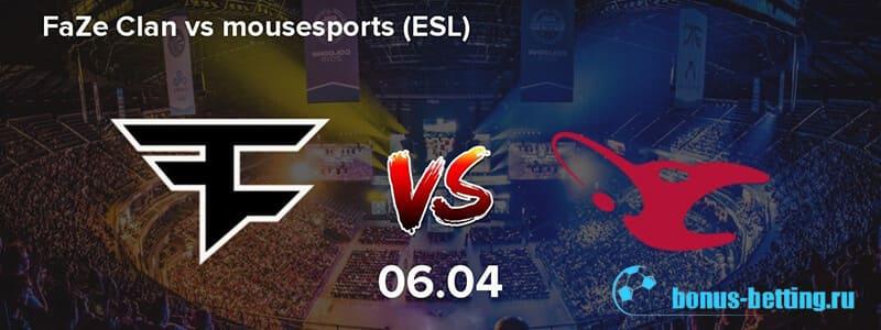 FaZe Clan vs Mousesports 6 апреля