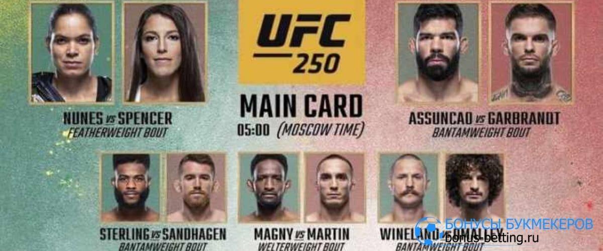 UFC 250 дата