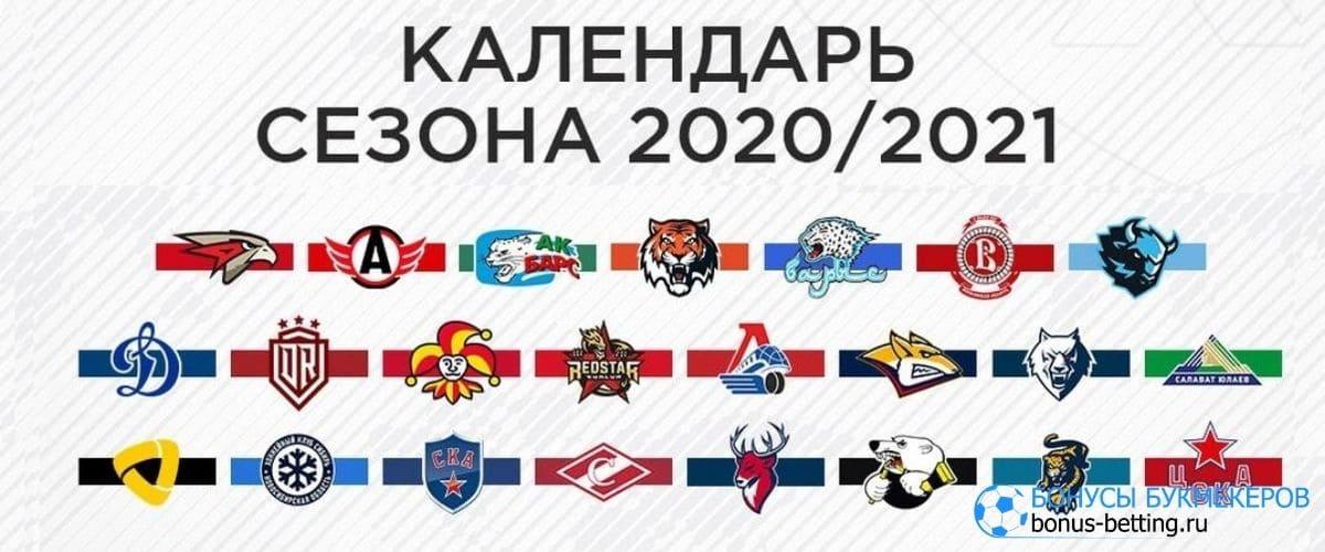 Календарь КХЛ 2020-2021