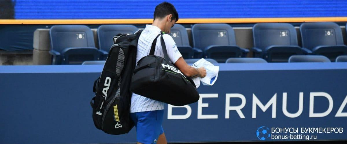 Джокович дисквалифицирован с US Open 2020
