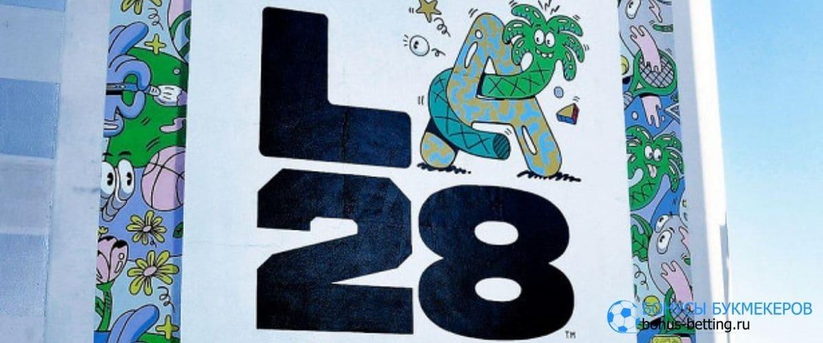 Логотип ОИ-2028 в Лос-Анджелесе