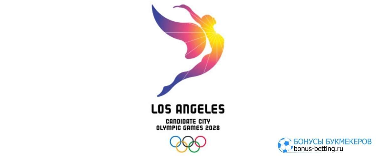 Логотип ОИ-2025 в Лос-Анджелесе