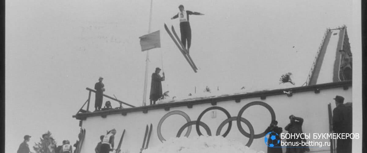 первые прыжки на лыжах с трамплина