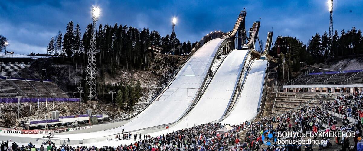 прыжки на лыжах трамплины