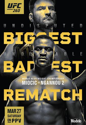 UFC 260 постер