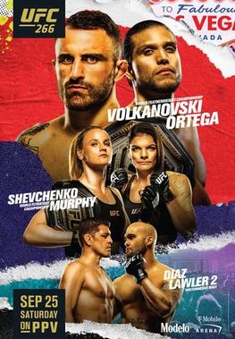 UFC 266 poster