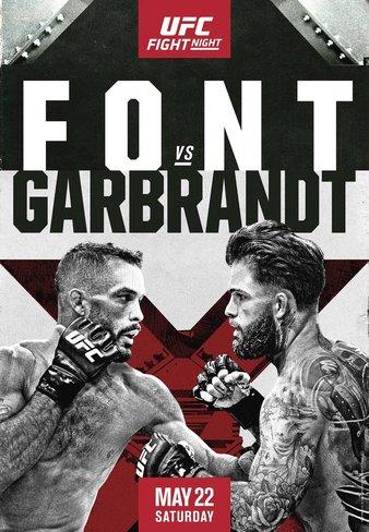 UFC Fight Night Фонт - Гарбрандт постер