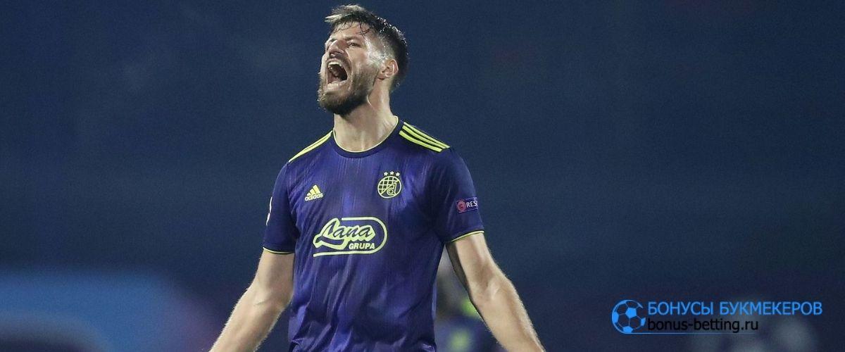 Бруно Петкович забил 2 гола Краснодару