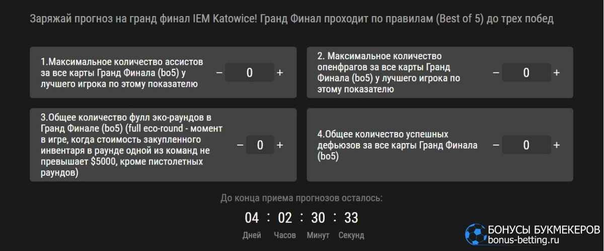 IEM Katowice в Париматч: правила и условия