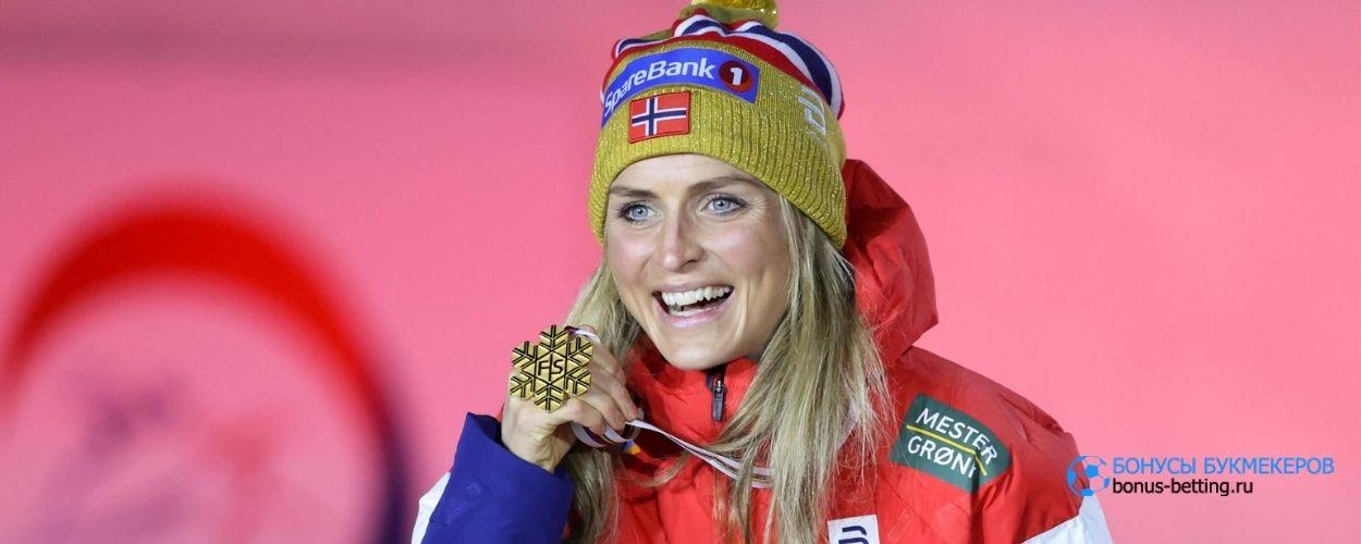 Норвежка пела во время лыжной гонки
