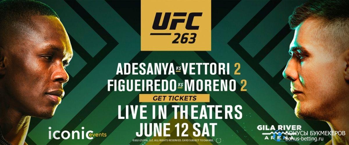UFC 263: расписание