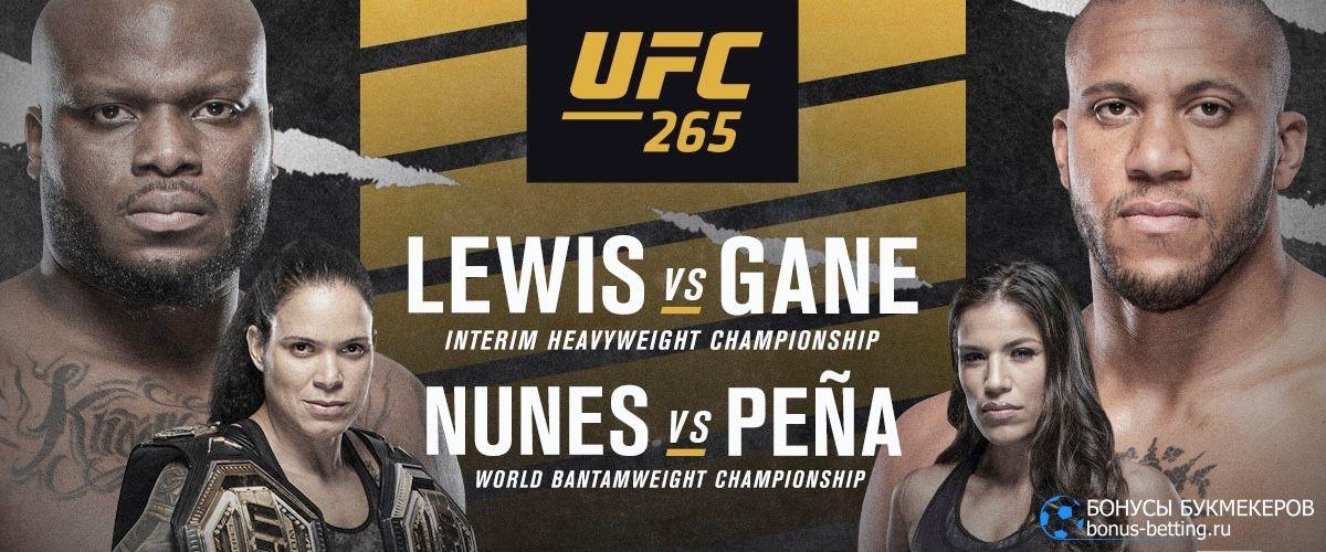 Турнир UFC 265: кард
